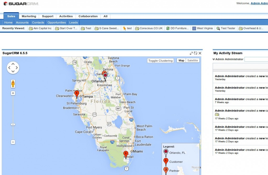 SugarCRM Google Maps IFrame URL Parameters