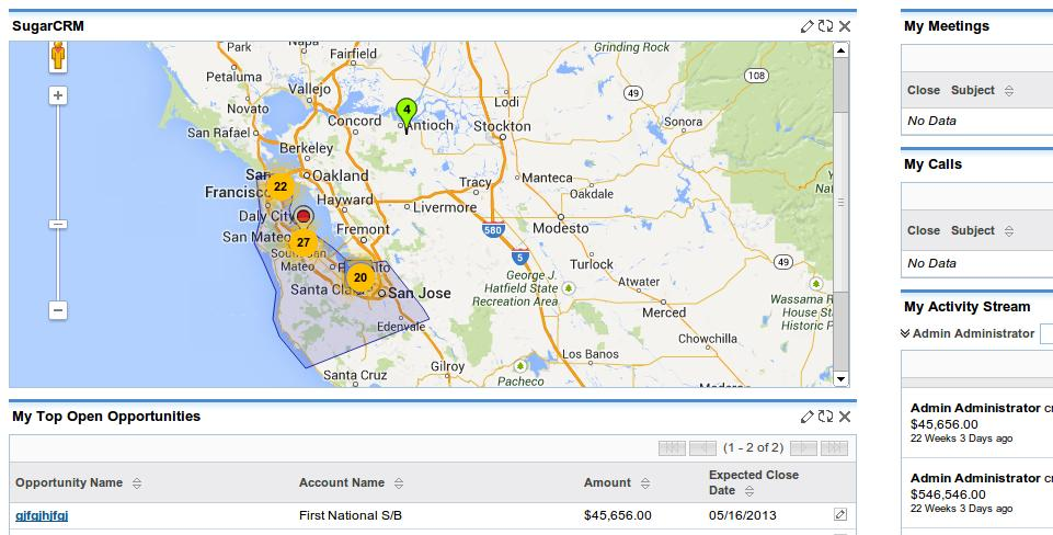 SugarCRM Google Maps – I-Frame Home Page (Video)