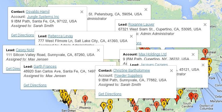 SugarCRM Google Maps – Custom InfoWindows | JJWDesign