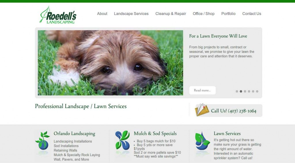 Roedell's Landscaping – WordPress